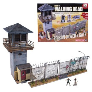 McFarlane Toys' The Walking Dead Construction set. Prison Tower and Gate